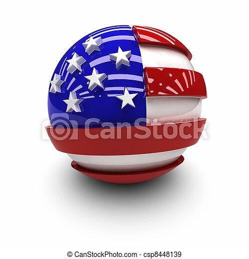 estados, bandeira, unidas - csp8448139