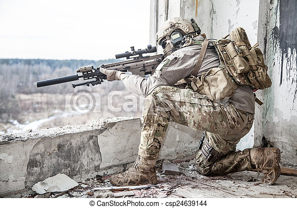 estados, guarda-florestal, unidas, exército - csp24639144