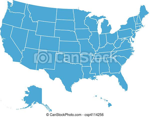 El mapa del vector de Estados Unidos - csp4114256