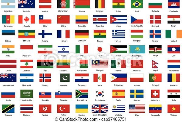 estados, mundo, banderas, soberano - csp37465751