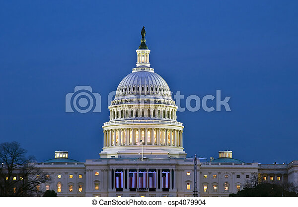 estados, predios, unidas, capitol - csp4079904