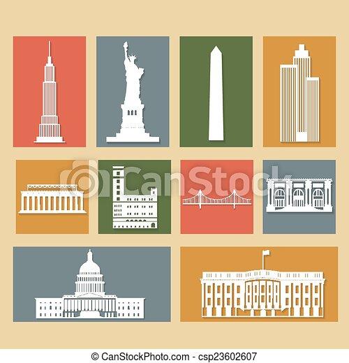 Marcas de los Estados Unidos de América - csp23602607