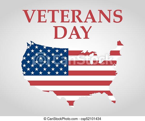 estados, unidas, dia veterans, américa - csp52101434