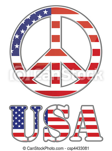estados, unidas, sinal paz - csp4433081