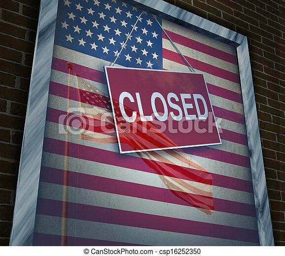 Estados Unidos cerrados - csp16252350