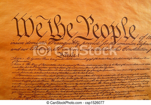 Constitución de Estados Unidos - csp1526077