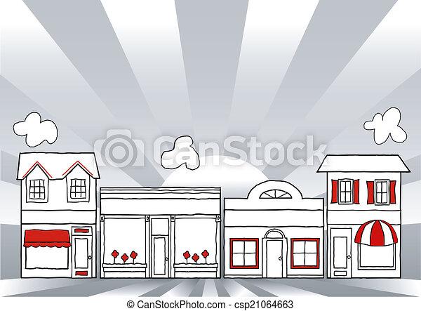 Calle principal USA - csp21064663