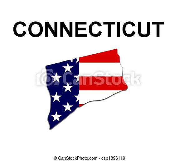 Estados Unidos de Connecticut en estrellas y rayas de diseño - csp1896119