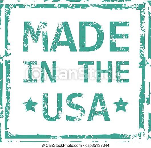 Hecho en el sello de USA - csp35137844