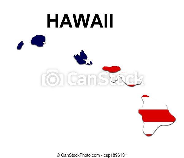 Estados Unidos de Hawaii en estrellas y rayas de diseño - csp1896131