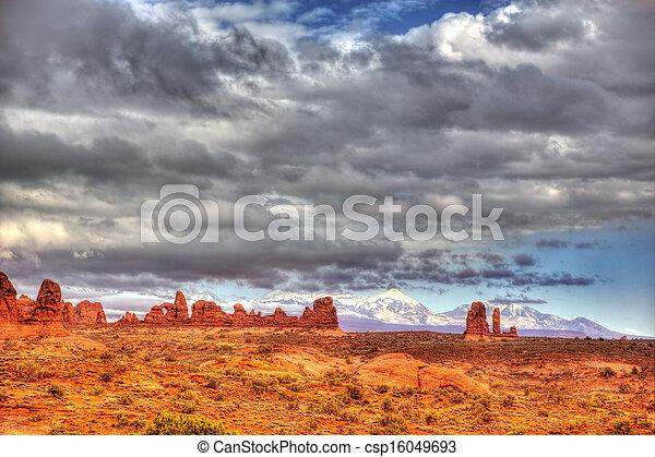 Parque nacional Arches en Moab Utah USA - csp16049693