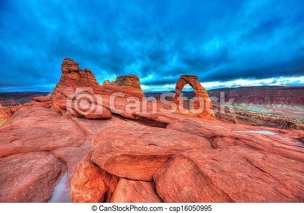 Parque nacional Arches en Moab Utah USA - csp16050995