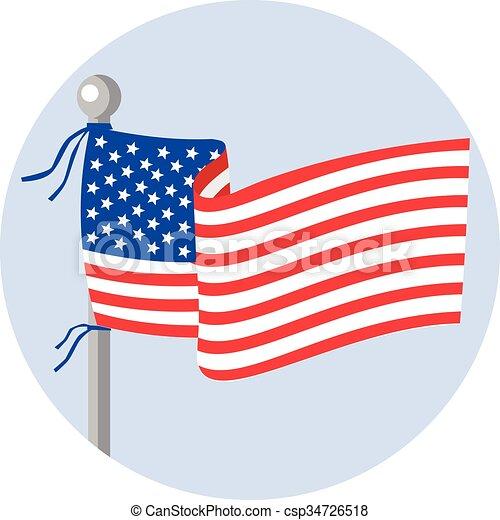 Estrellas De Bandera De Eeuu Y Rayas En Los Dibujos Del