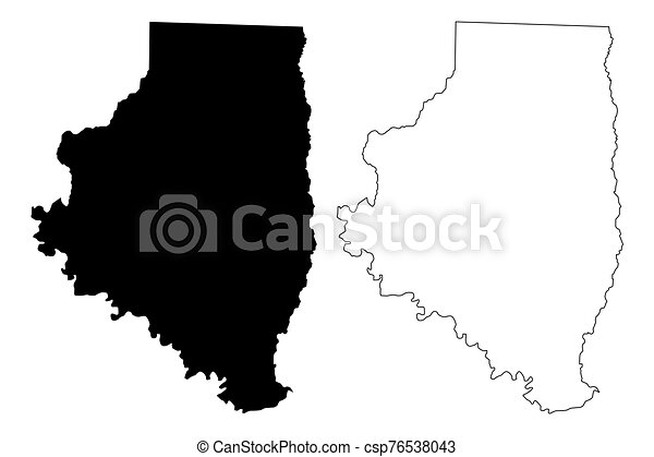 estados unidos de américa, u..s.., arkansas, estados, ilustración, garabato, unido, (u.s., calhoun, vector, américa, bosquejo, condado, mapa, us) - csp76538043