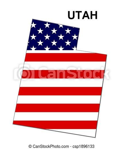 Estados Unidos de Utah en diseño de estrellas y rayas - csp1896133