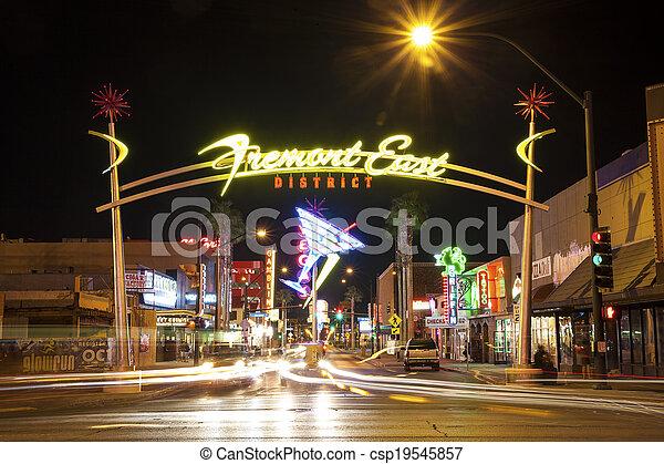 Distrito Fremont Este, Las Vegas, USA - csp19545857
