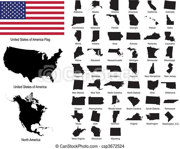 estados, vectors, eua - csp3672524