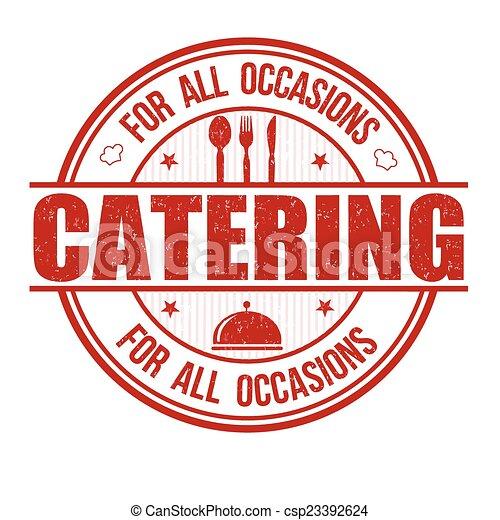 Un sello de catering - csp23392624