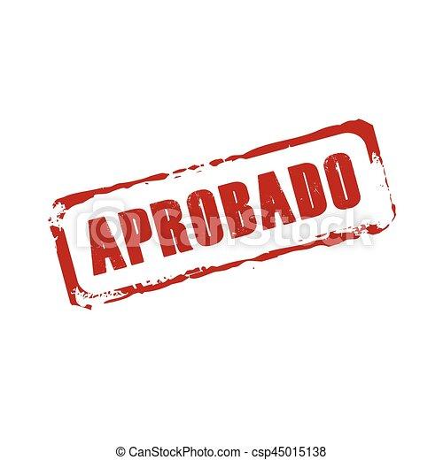 Vector rojo marca grunge APROBADO - csp45015138
