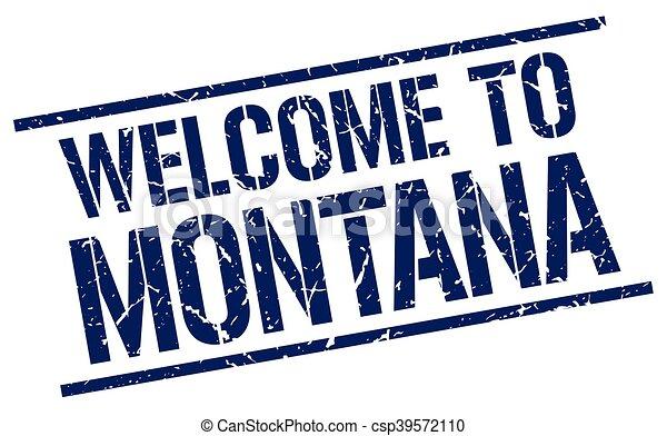 Bienvenidos a Montana Stamp - csp39572110