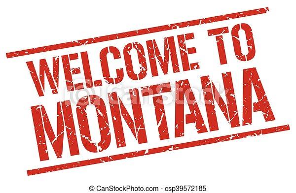 Bienvenidos a Montana Stamp - csp39572185