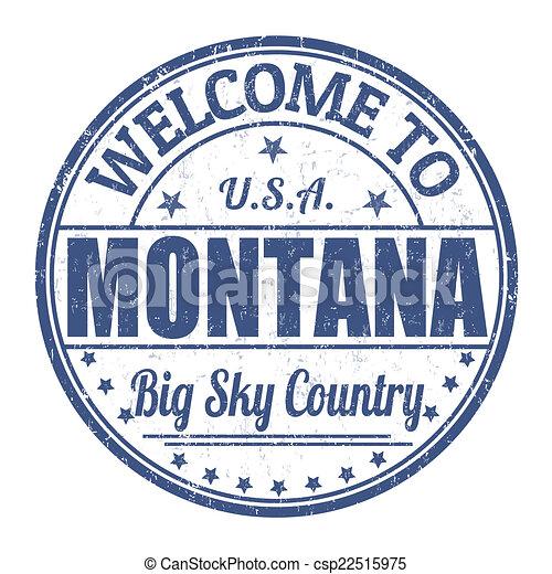 Bienvenidos a Montana Stamp - csp22515975