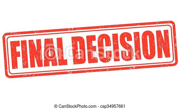 Último sello de decisión - csp34957661