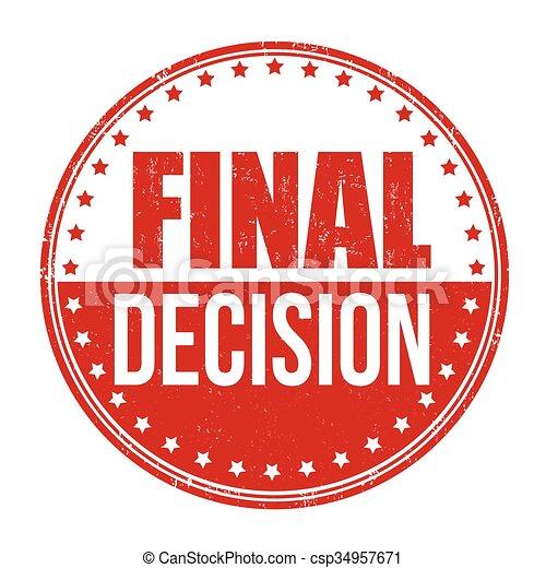 Último sello de decisión - csp34957671