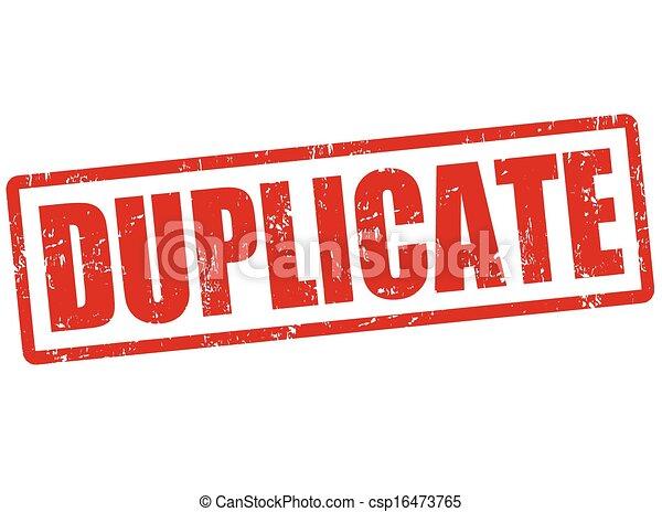 Duplicar sello - csp16473765