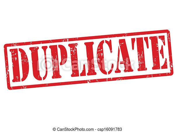 Duplicar sello - csp16091783
