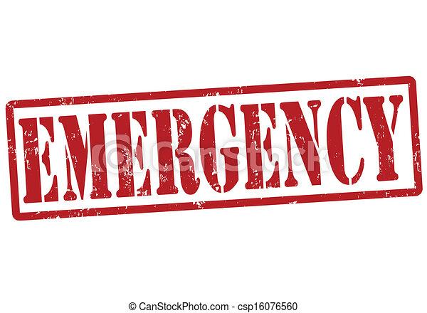 estampilla, emergencia - csp16076560