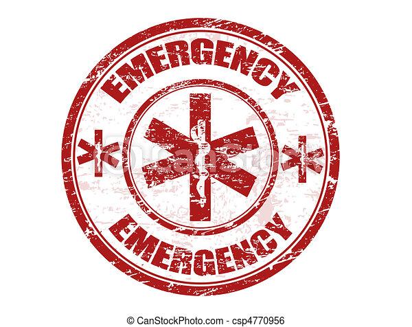 estampilla, emergencia - csp4770956