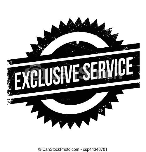 Un sello de servicio exclusivo - csp44348781
