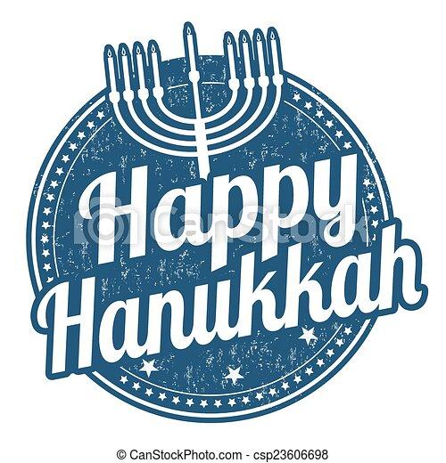 Feliz sello Hanukkah - csp23606698