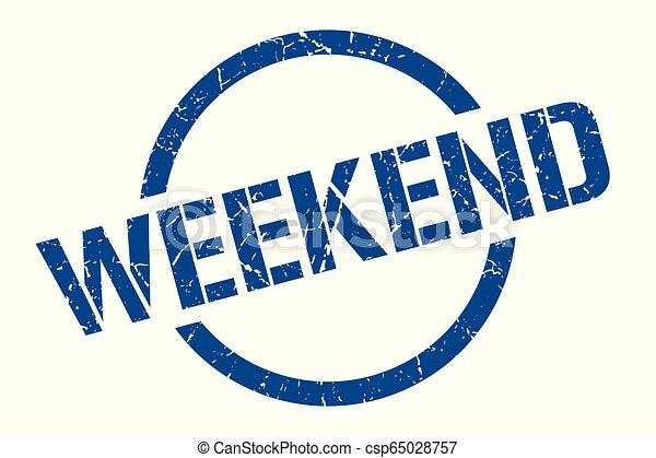 Un sello de fin de semana - csp65028757