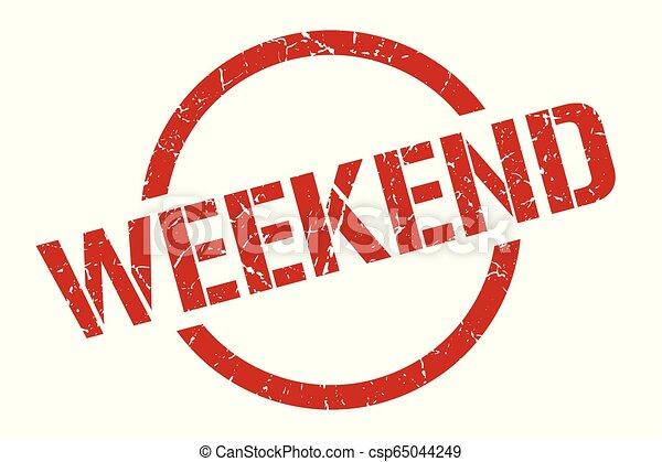 Un sello de fin de semana - csp65044249