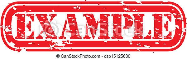 El grunge ejemplo de sello de goma, vector - csp15125630