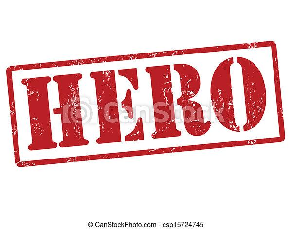 Un sello de héroe - csp15724745