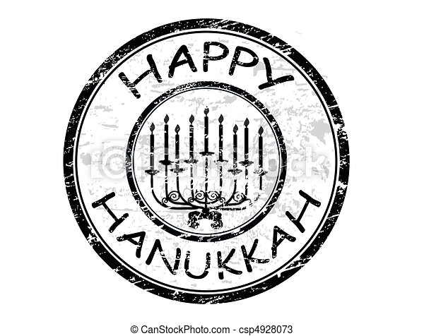 Feliz sello Hanukka - csp4928073