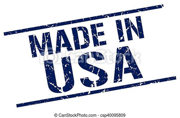 Hecho en sello americano - csp40095809
