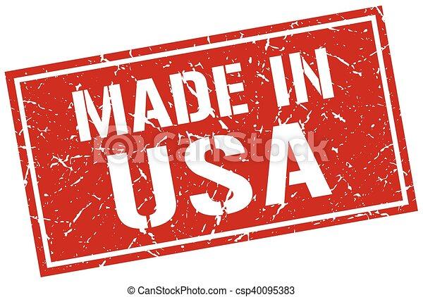 Hecho en sello americano - csp40095383