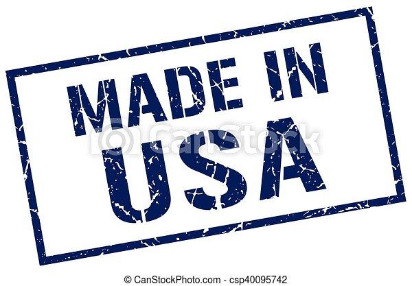 Hecho en sello americano - csp40095742