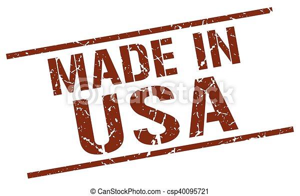 Hecho en sello americano - csp40095721