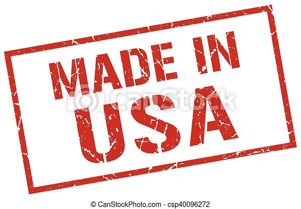 Hecho en sello americano - csp40096272