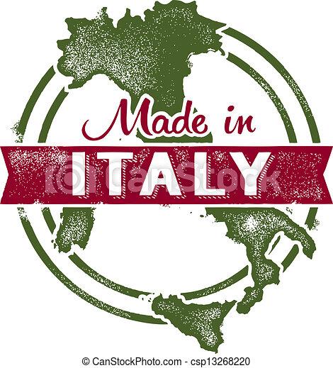 Hecho en sello italiano - csp13268220