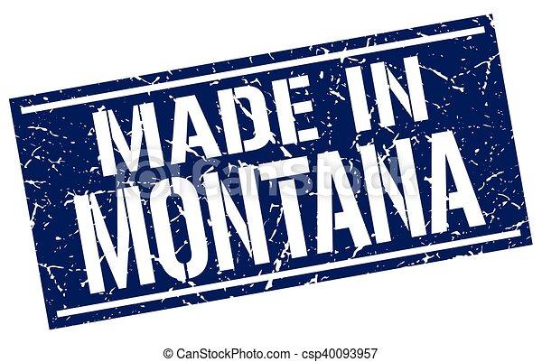 Hecho en Montana Stamp - csp40093957