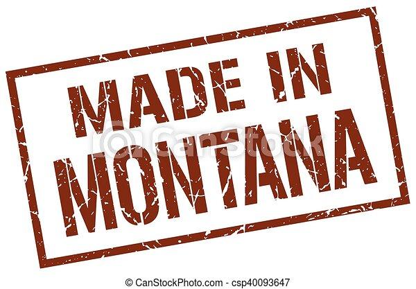 Hecho en Montana Stamp - csp40093647