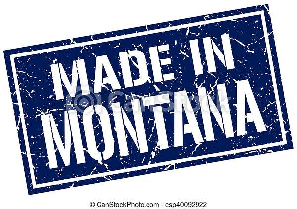 Hecho en Montana Stamp - csp40092922