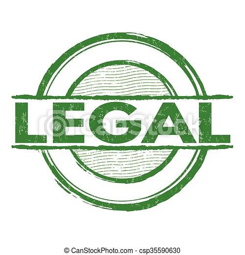 Un sello legal - csp35590630