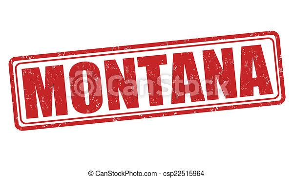El sello de Montana - csp22515964